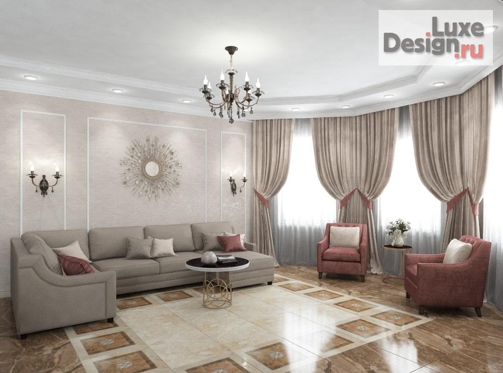 """дизайн загородного дома """"Проект кухни -гостиной в частном доме в Подмосковье"""" (фото 4)"""
