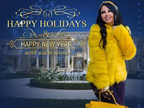 "Дизайн ландшафта в Москве ""HAPPY NEW YEAR! With best wishes from Katrina Antonovich and Luxury Antonovich Design !"""
